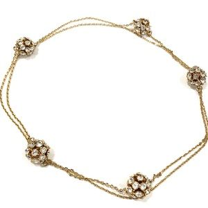 KATE SPADE crystal & gold fireball chain necklace